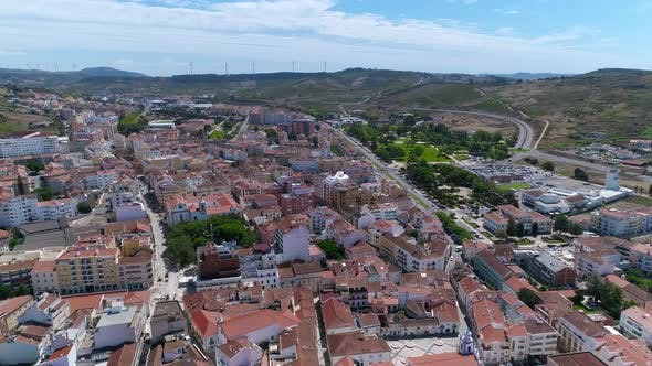 Thumbnail for Old Portugal City with Small Houses and Bright Red Roofs