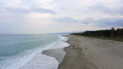 fisherman fishing from the beach