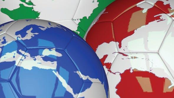 3D Soccer Ball - Planet Earth