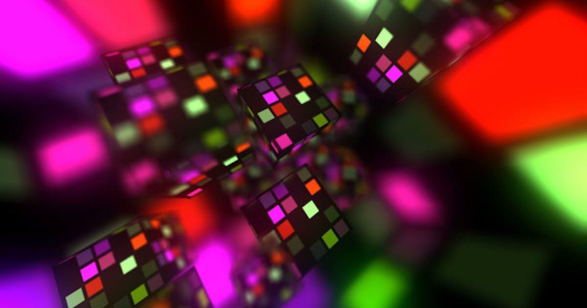 splash glowing cubes by gesh tv on envato elements