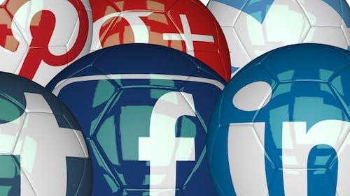 3D Soccer Ball - Social Networks