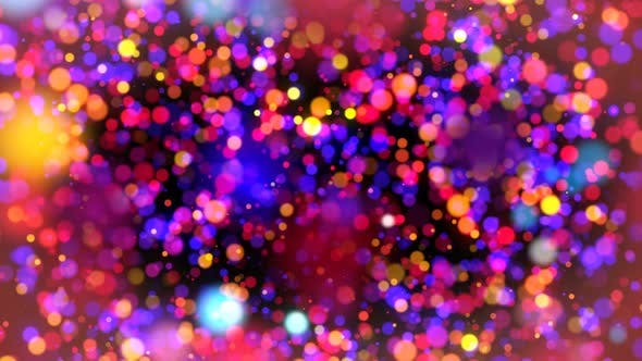 Thumbnail for Abstract Colorful Particles Looped Background