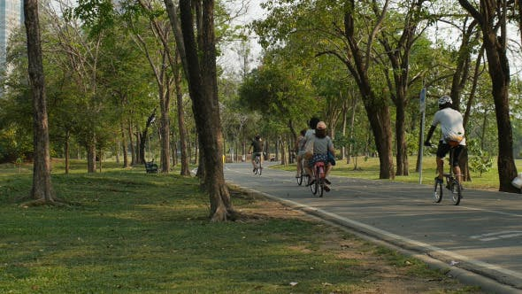 Thumbnail for People Cycling In Park
