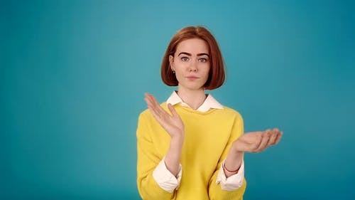 Young Woman in Yellow Pullover