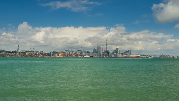 Thumbnail for View on Auckland Central Part over the Channel