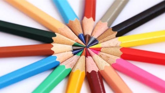 Cover Image for Rotating Pencils On White Background 4