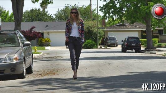 Thumbnail for Girl Walking on the Street