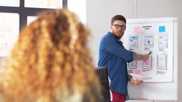 Man at User Interface Presentation