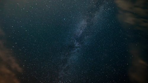Milky way in the night starry sky. Time Lapse