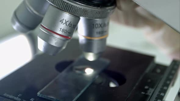 Thumbnail for Microscope Is Used for Conducting Planned, Research Experiments, Educational Demonstrations in
