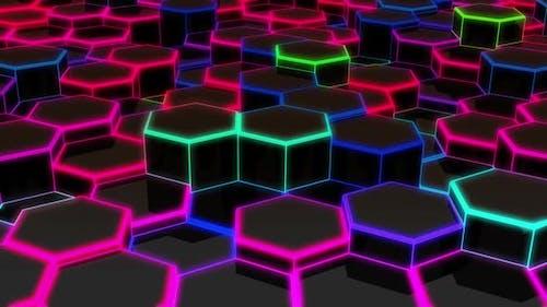 Hexagon Edge Neon Hd