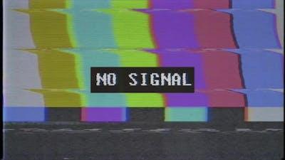 Source No signal old vintage TV Video Damage