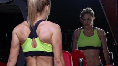 Beautiful Fit Woman Exercising
