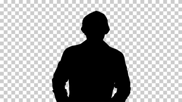 Thumbnail for Silhouette Portrait of medical doctor, Alpha Channel