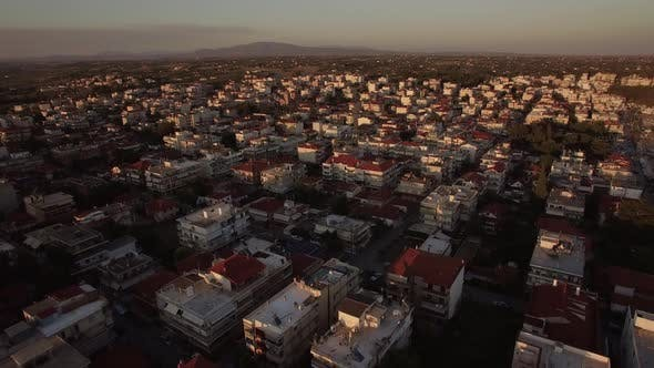 Thumbnail for Morning View of Town with Typical Low-rise Houses, Greece