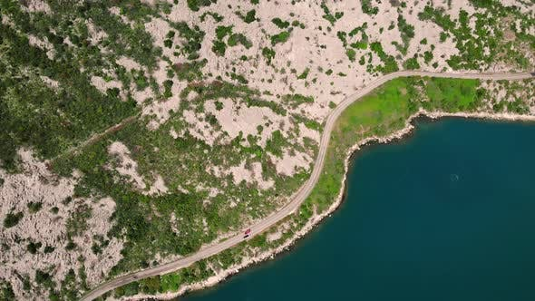 Thumbnail for Aerial View on Road in Mediterranean City