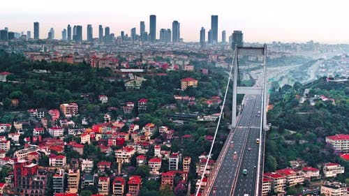 Aerial View of Bridge, Istanbul