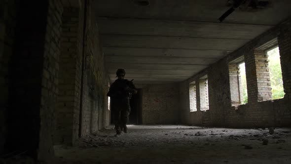 Thumbnail for Squad of Army Soldiers Attacking Enemy Building