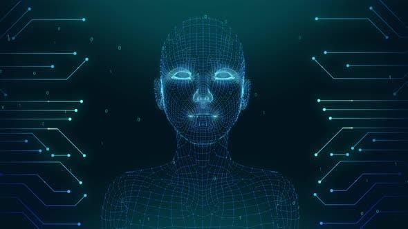 Ai Talking Waman face recognition