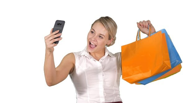 Thumbnail for Sale consumerism, technology and people concept - happy