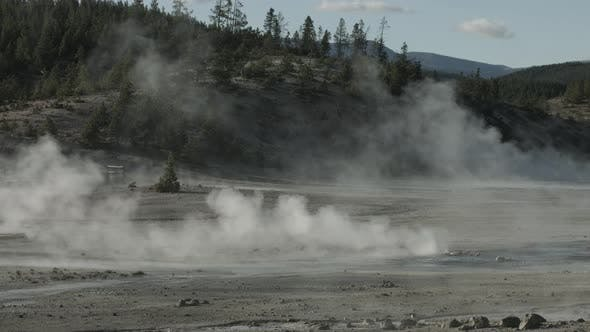 Thumbnail for Steaming soil in Yellowstone National Park