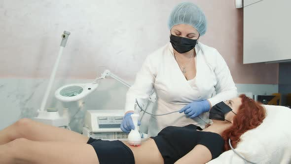 A Doctor Who Performs a Skin Texture Restoration Procedure