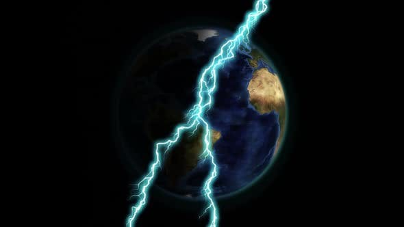 Lightning and the earth