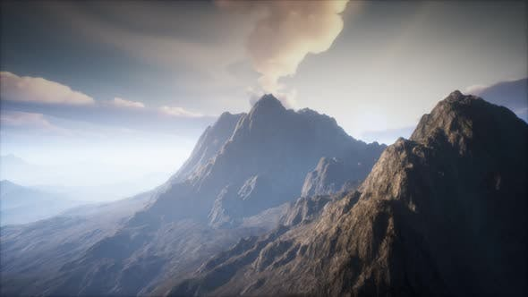 Thumbnail for Volcano Crater Landscape with Fog