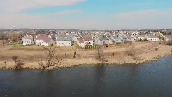 Politics Over the Small Town of Wauconda in Illinois. Beautiful Views of Small Settlements in the