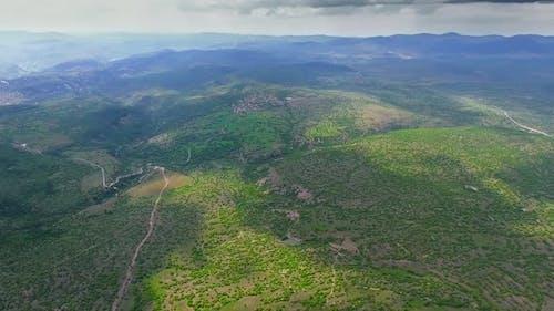 Cluster Villages in Sparse Woodland