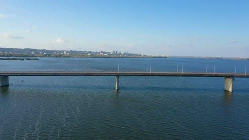 Bridge Across Dnipro River