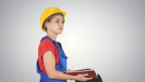 Thumbnail for Woman Construction Worker in Hard Hat and Workwear Uniform