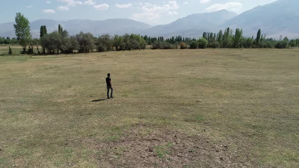 Thumbnail for Man Walking Alone In Nature