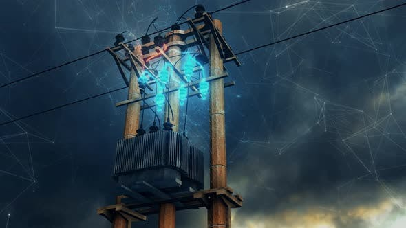 Electric Power Lines 4k