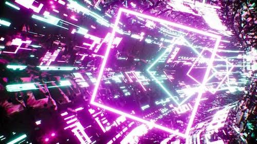Cyberpunk VJ Tunnel Loop 4K