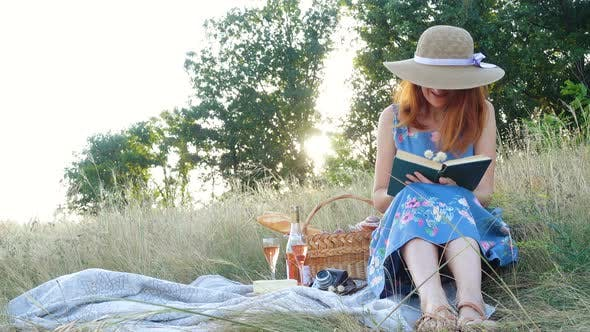 Thumbnail for Girl With Book On A Picnic
