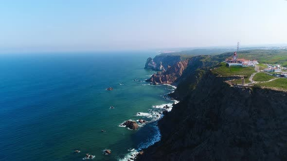 Thumbnail for Aerial Drone View of the Coast Coastline Ocean Sea in Portugal