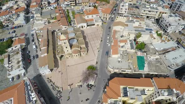 Thumbnail for Aerial View of Streets and Historical Buildings in Larnaca City, Cyprus