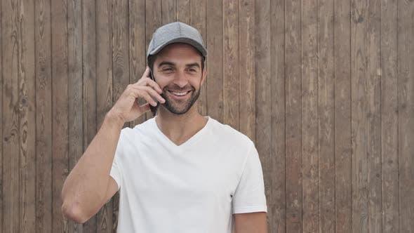 Cap Guy Getting Call
