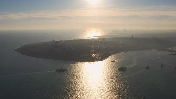 Thumbnail for Istanbul Historical Peninsula Aerial View