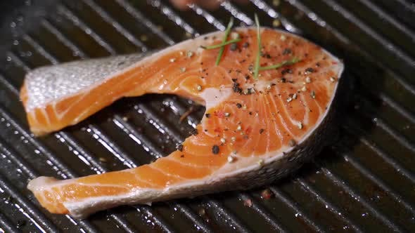 Thumbnail for Pan-fried Salmon. Cooking Salmon in a Pan