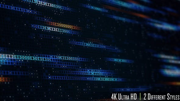 4K Data Technology Concept