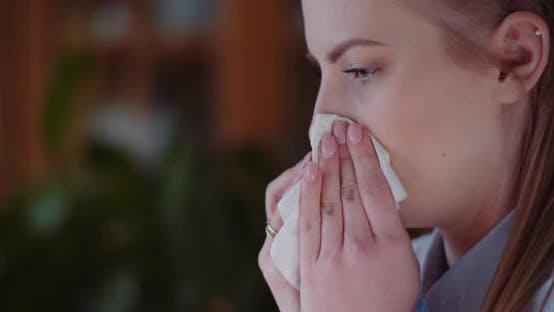Thumbnail for Young WomanHaving Coronavirus Symptoms - Covid-19
