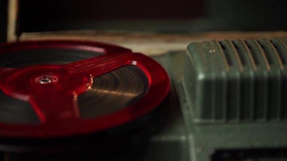 8 Mm Film Installation Close Up