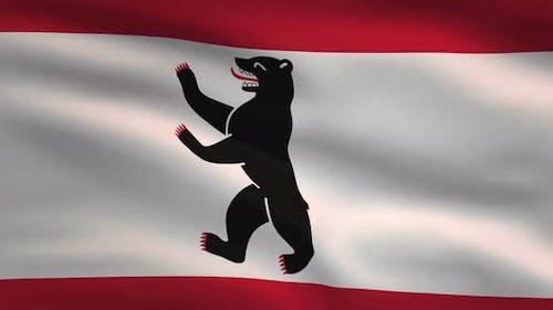 German State Flag Berlin 4K
