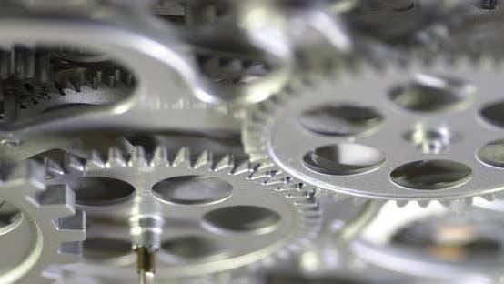 Mechanische graue Zahnräder Rotationsbewegung 6