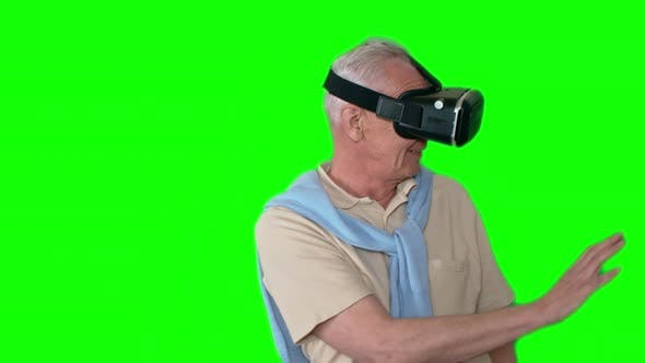Thumbnail for Senior Man Experiencing Virtual Reality