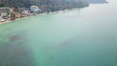 Smoke on the Island and the Beach of Ko Chang