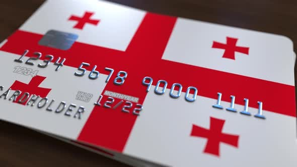 Thumbnail for Credit Card with Flag of Georgia