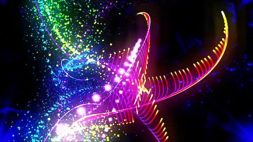 Colorful Particles Background Loop
